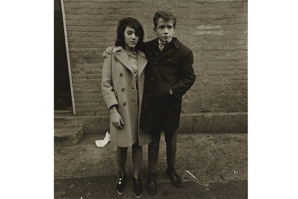 ©1968 estate of Diane Arbus, LLC, Teenage Couple on Hudson Street, N.Y.C 1963, ©1968 estate of Diane Arbus, LLC  When I was living in Kansas I had a reproduction of this image hanging in my office for nearly 4 years. It was such a simple and powerful portrait for me of two kids dressing up a little older than they should be but being perfectly at ease. The ability of Arbus to catch the kids out of a crowd and capture that image is still inspirational to me.