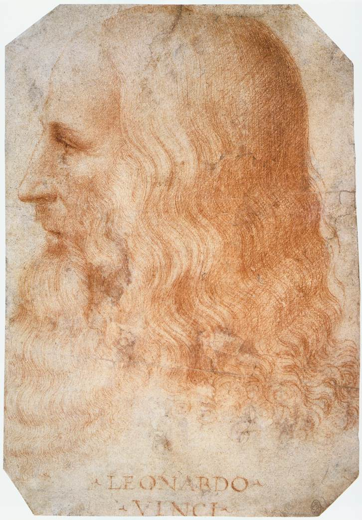 Francesco Melzi  ,  Portrait of Leonardo da Vinci , c. 1510