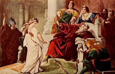 Sir John Gilbert,  Cordelia in the Court of King Lear, c.1873