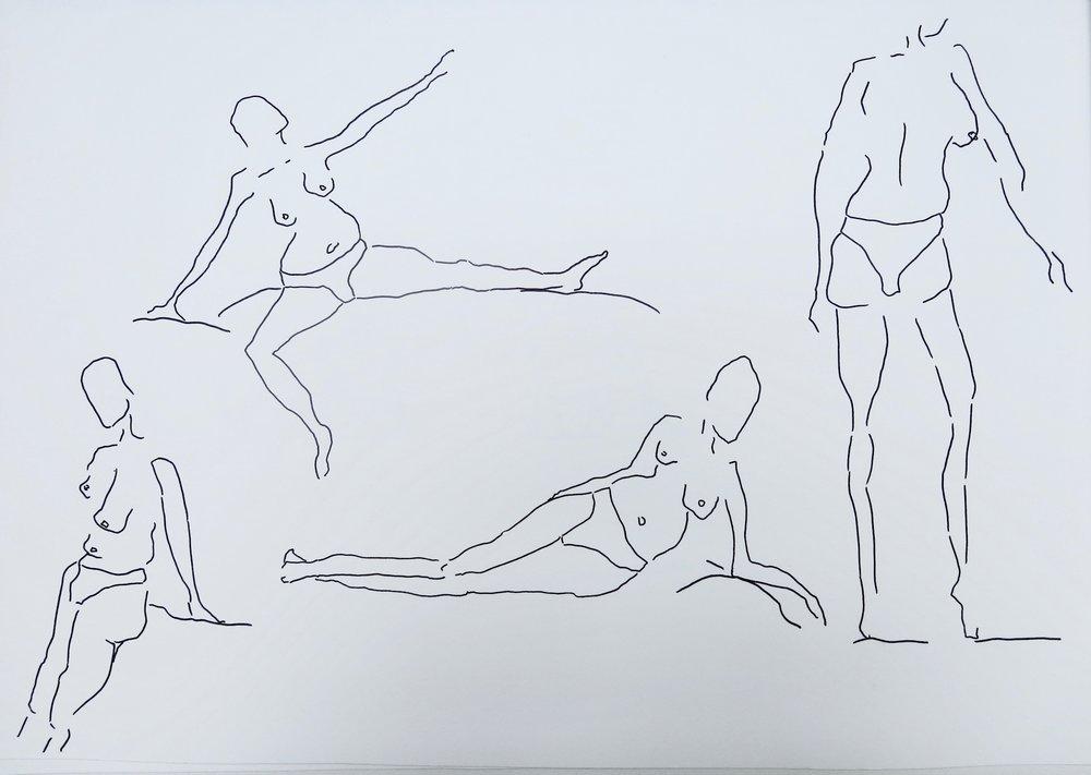 Our Women #6   Pen on archival paper  Unframed: 42 x 30 cm