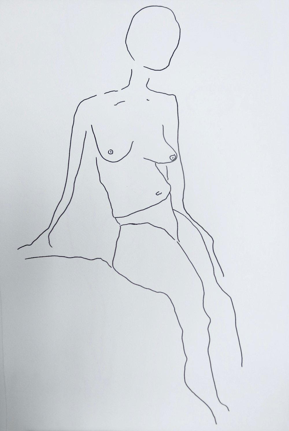 Our Women #5   Pen on archival paper  Unframed: 42 x 30 cm