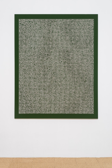 Jorge Mendez Blake, Dismantling Gorostiza (Poema frustrado) / Desmantelando a Gorostiza (Poema frustrado), 2017, Acrylic on linen, 60 x 47.9 inches