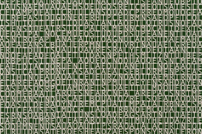 Detail, Jorge Mendez Blake, Dismantling Gorostiza (Poema frustrado) / Desmantelando a Gorostiza (Poema frustrado), 2017, Acrylic on linen, 60 x 47.9 inches