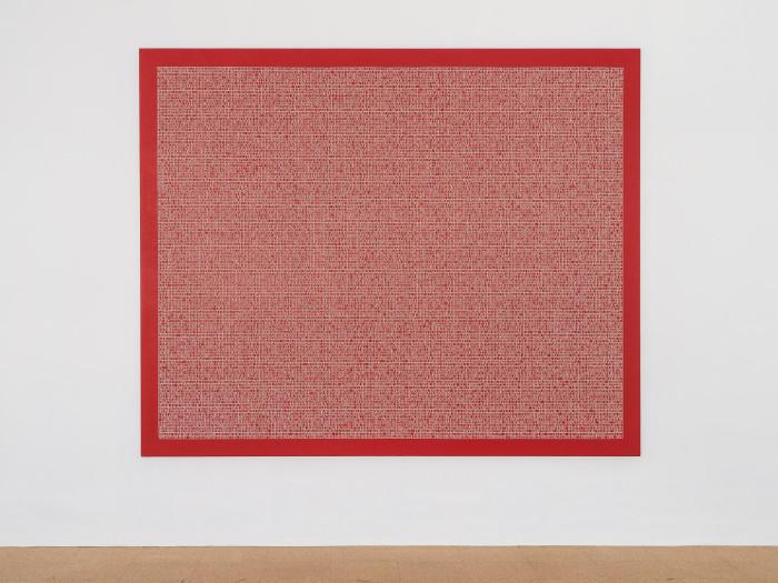 Jorge Mendez Blake, Dismantling Gorostiza (Muerte sin fin) / Desmantelando a Gorostiza (Muerte sin fin), 2017, Acrylic on linen, 78 x 95.7 inches