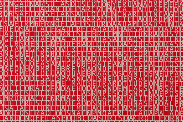 Detail, Jorge Mendez Blake, Dismantling Gorostiza (Muerte sin fin) / Desmantelando a Gorostiza (Muerte sin fin), 2017, Acrylic on linen, 78 x 95.7 inches