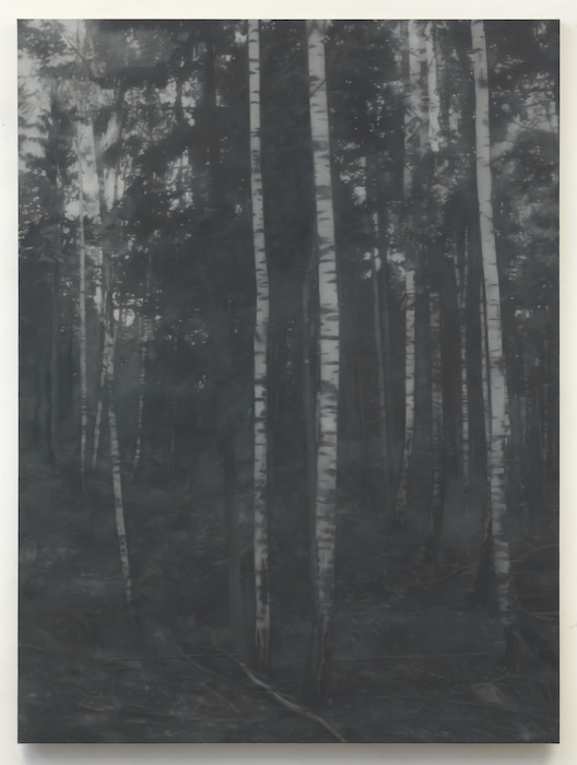 Paul Winstanley, Birchwood 2, 2011, Oil on linen, 86 5/8 x 65 inches.