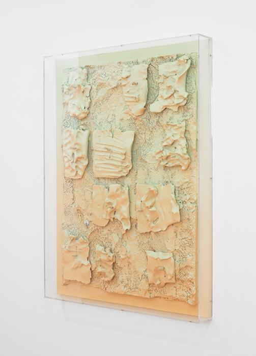 Jan Albers, tEndErloin, 2013, spray paint on polystyrene & ceramic, 40.30 x 31.49 x 5.11 in, 110 x 80 x 13 cm
