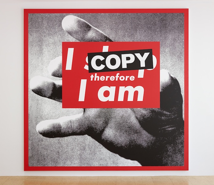 SUPERFLEX, I Copy Therefore I Am, 2009, photo print on vinyl, 112.99 x 111.02 in, 287 x 282 cm