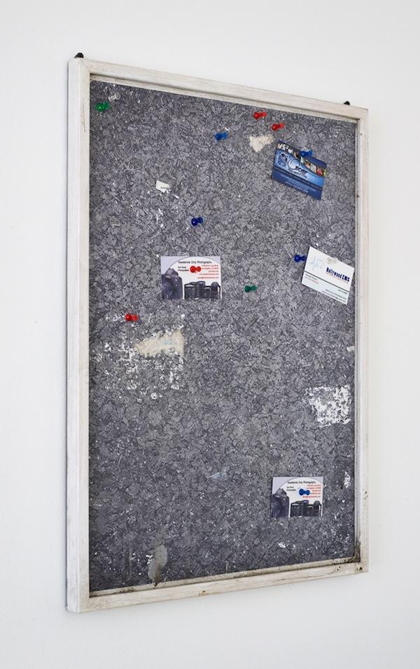 Fiona Connor, Community Notice Board (Laundry), 2015. Installation view 1301PE.