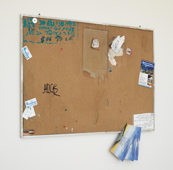 Fiona Connor, Community Notice Board (La Brea), 2015. Installation view 1301PE.