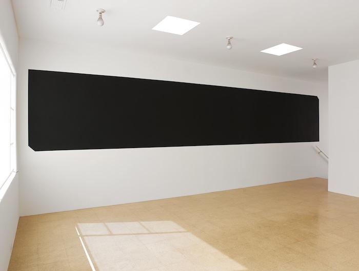 Rirkrit Tiravanija and Superflex Arken / Safina (Blackout Version), 2013, black paint on wall, dimensions variable
