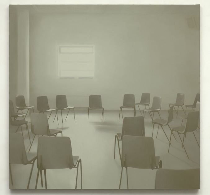 Paul Winstanley, Seminar (Grey), 2014, Oil on linen, 61 x 63 in, 155 x 160 cm
