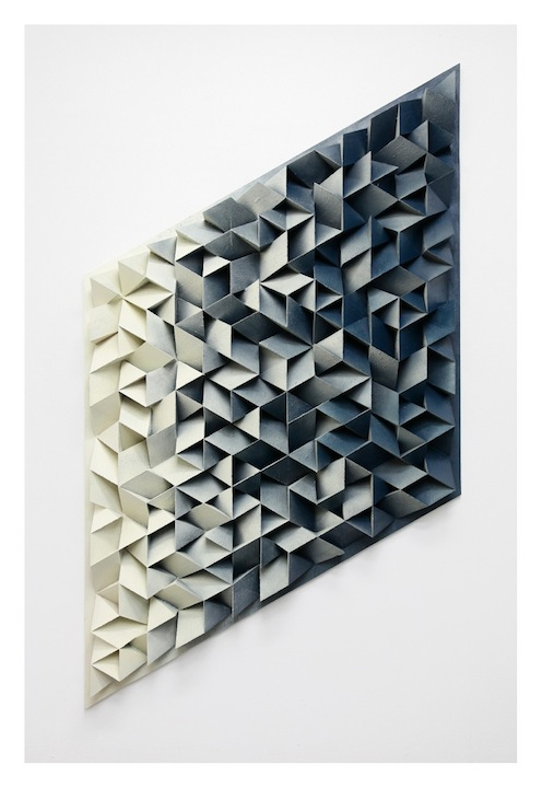 Jan Albers, furiOusdOndawn, 2014, spray paint on polystyrene & wood, 98.42 x 57.1 x 5.51 in, 250 x 145 x 14 cm