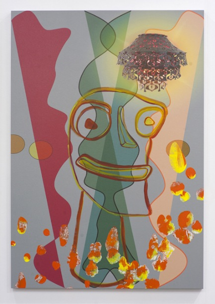 "Jorge Pardo, Untitled ""Tiki"", 2011, acrylic on canvas, 52 x 36 inches, 132.1 x 91.4 cm"