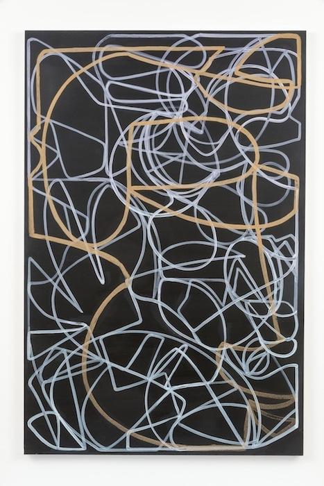 Blake Rayne, Carrière (Emotional), 2013, acrylic & walnut shell on canvas, 77 x 51 inches, 195.6 x 129.5 cm