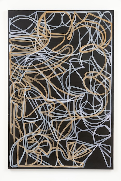 Blake Rayne, Carrière (Rough Stuff), 2013, acrylic & walnut shell on canvas, 77 x 51 inches, 195.6 x 129.5 cm