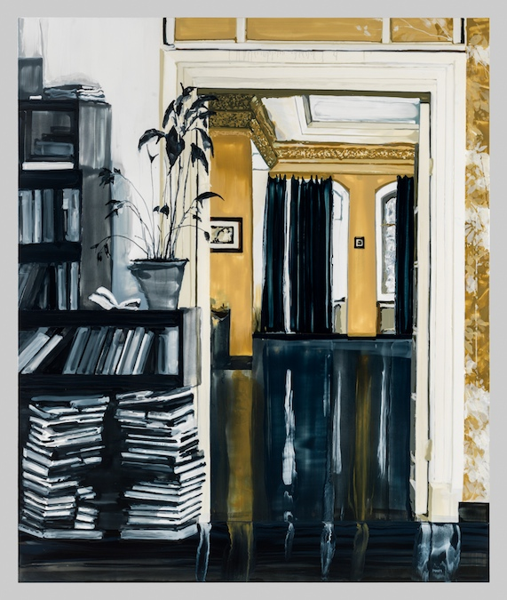 Kirsten Everberg, At Night, Of Course (Mirror), 2013, Oil and enamel on canvas over wood panel, 72 x 60 inches, 182.9 x 152.4 cm