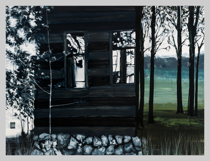 Kirsten Everberg, You Know (Mirror), 2013, Oil and enamel on canvas over wood panel, 72 x 96 inches, 182.9 x 243.8 cm