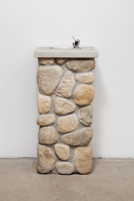 Fiona Connor, Object No. 5, Bare Use (water fountain), 2013, mixed media, 43.5 x 18.25 x 15.25 inches, 110.5 x 46.4 x 38.7 cm