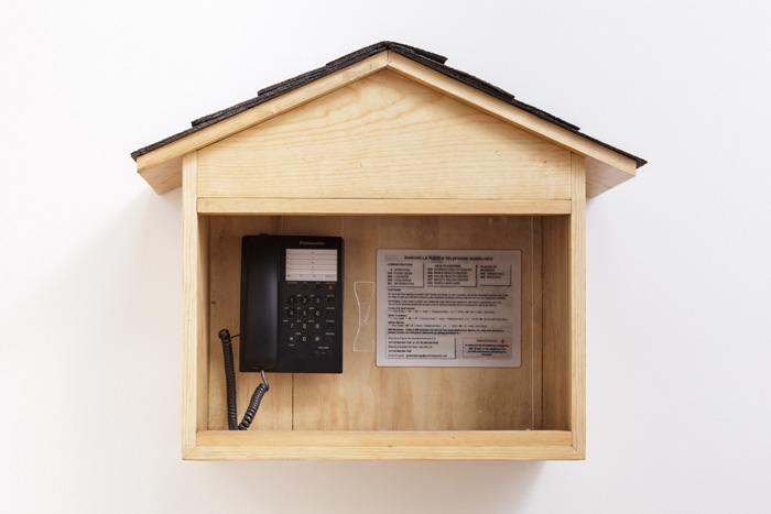 Fiona Connor, Object No. 6, Bare Use (telephone hut), 2013, mixed media, 21.75 x 26.5 x 10.5 inches, 55.2 x 67.3 x 26.7 cm