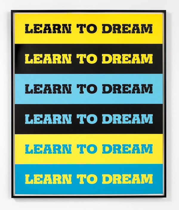 John Baldessari, Learn to Dream, 2011, 5 color screenprint, 39 x 32 inches, 99.1 x 81.3 cm, edition of 50