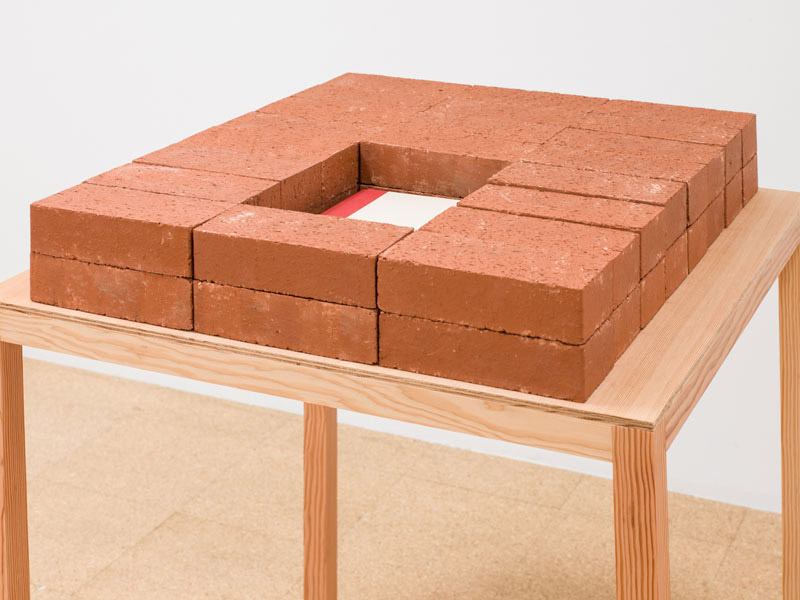 Jorge Mendez Blake, The American Poetry Monument, 2012, bricks, book, wood, 38.125 x 31.5 x 29.5 inches