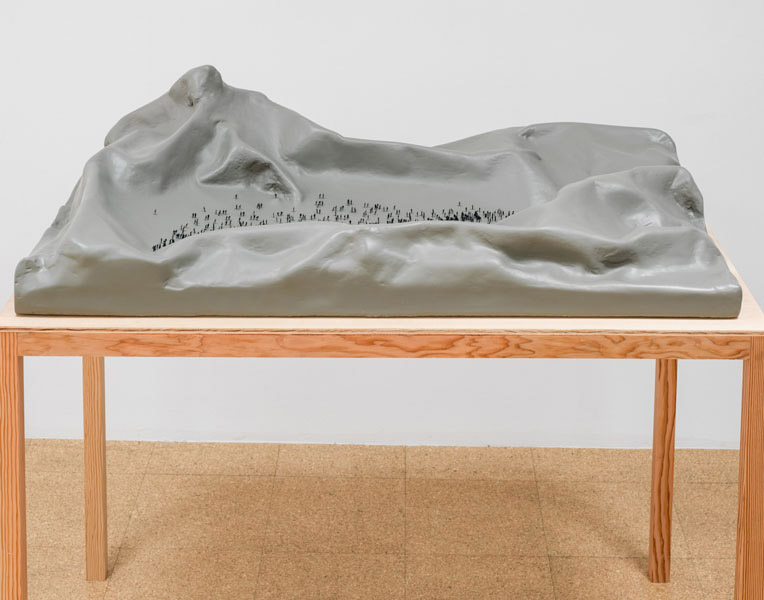 Jorge Mendez Blake, The Rulfo Monument, 2007-2012, resin, fiberglass, wood, 44.5 x 48.25 x 28.5 inches