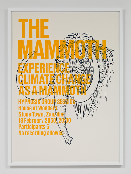 SUPERFLEX, Experience Climate Change As A Mammoth, 2009 silkscreen print 31.5 x 43 inches