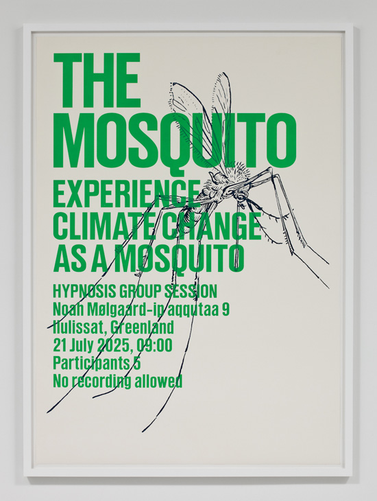 SUPERFLEX, Experience Climate Change As A Mosquito, 2009 silkscreen print 31.5 x 43 inches