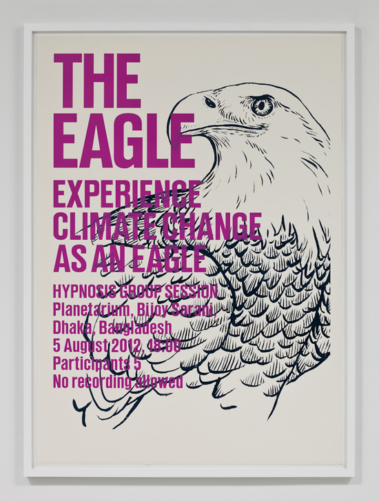 SUPERFLEX, Experience Climate Change As An Eagle, 2009 silkscreen print 31.5 x 43 inches