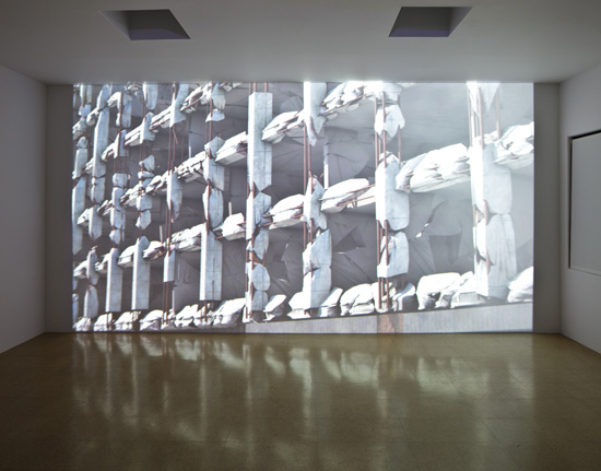 SUPERFLEX, Modern Times Forever (Stora Enso Building, Helsinki), 2011 3D photorealistic animation