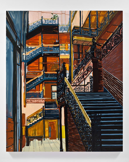 Kirsten Everberg, Military Hospital, Great Britain, 2011, oil and enamel on canvas, 72 x 60 inches, 182.9 x 152.4 cm