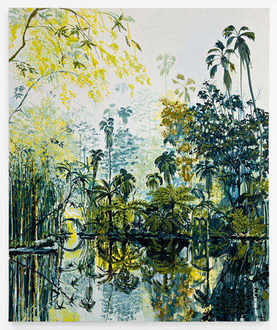 Kirsten Everberg, Rio de Janeiro, 2011, oil and enamel on canvas, 72 x 60 inches, 182.9 x 152.4 cm