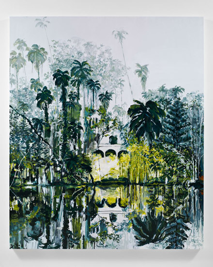Kirsten Everberg, Burma, 2011, oil and enamel on canvas, 72 x 60 inches, 182.9 x 152.4 cm