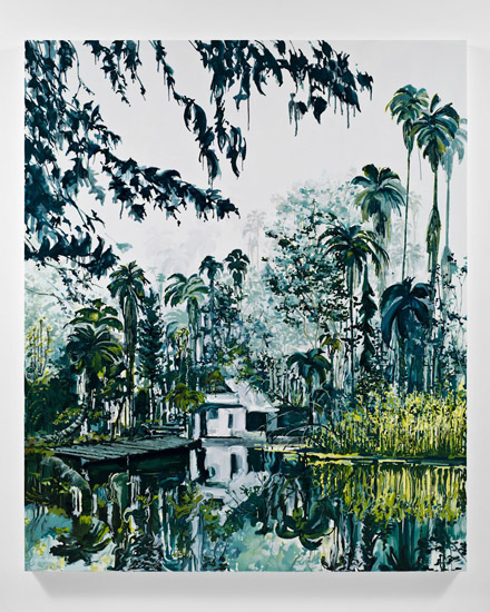 Kirsten Everberg, Dutch East Indies, 2011, oil and enamel on canvas, 72 x 60 inches, 182.9 x 152.4 cm