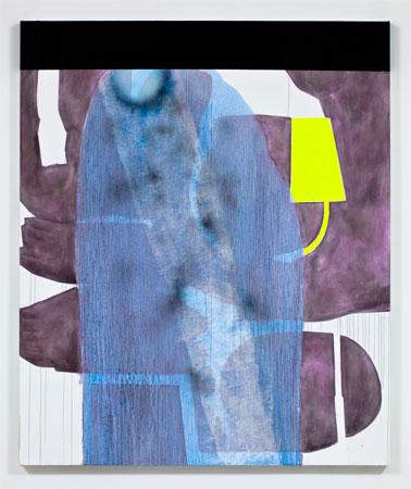 Charline von Heyl, Blue Hermit, 2011, Acrylic and oil on linen, 60 x 50 inches, 152.4 x 127 cm