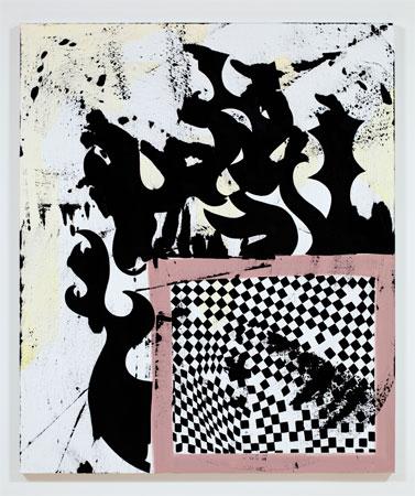 Charline von Heyl, Catch Mad Wreck, 2011, Acrylic on linen, 60 x 50 inches, 152.4 x 127 cm