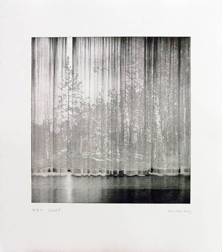 Paul Winstanley, Veil 5, 2008, Hand-drawn sugar lift aquatints with photo-etching