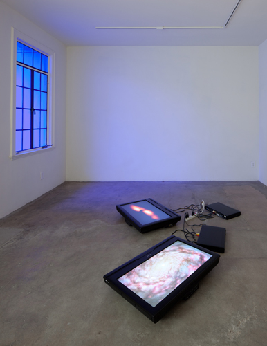 Diana Thater, Dark Matter, 2003, Two flat panel monitors, two DVD players, Edition 2 of 3