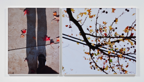 Uta Barth, Untitled, 2010, Mounted color photographs, 2 panels; 41 1/4 x 32 1/4 in, 41 1/4 x 46 1/2 in.