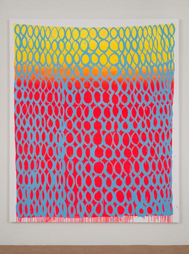 Judy Ledgerwood, Tequila Sunrise, 2010, Oil on canvas, 96 x 80 in. (243.8 x 203.2 cm)