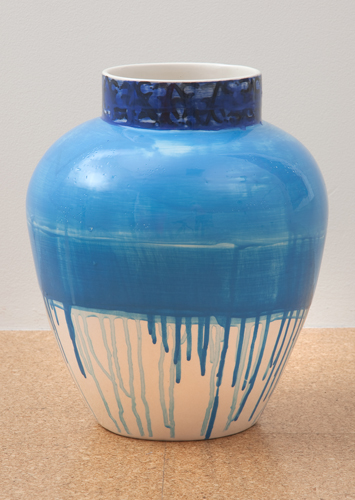 Judy Ledgerwood, Ceramic #7, 2010, Glazed ceramic, 16 x 12 x 12 in. (40.6 x 30.5 x 30.5 cm)