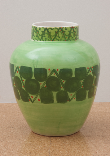Judy Ledgerwood, Ceramic #6, 2010, Glazed ceramic, 16 x 12 x 12 in. (40.6 x 30.5 x 30.5 cm)