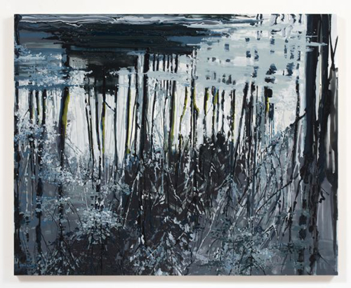 Kirsten Everberg, Dnieper River, Reflection (After Tarkovsky), 2008, Oil & enamel on canvas on panel, 4 x 5 ft