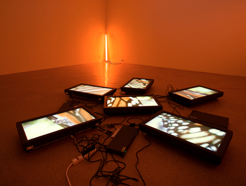 Diana Thater, Untitled Video Wall, 2008, Six flat panel monitors