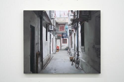 Paul Winstanley, Alley, 2007, Oil on linen, 24 x 28 3/4 in. (61 x 73 cm)