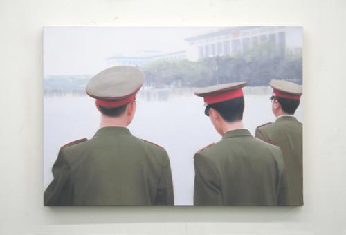 Paul Winstanley, Tienenmen Square, 2007, Oil on linen, 18 1/8 x 25 5/8 in. (46 x 65 cm)