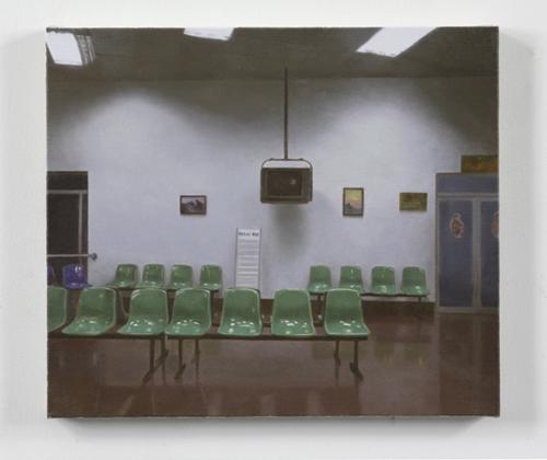 Paul Winstanley, Station, 2007, Oil on linen, 11 7/8 x 13 3/4 in. (30 x 35 cm)