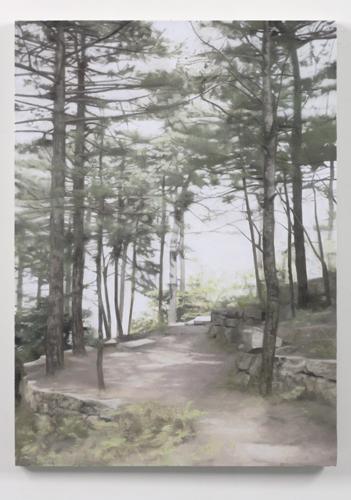 Paul Winstanley, Pines Above Jiuhua Shan, 2007, Oil on linen, 32 1/4 x 23 1/4 in. (30 x 35 cm)