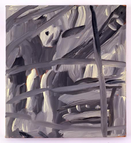 Charline von Heyl, Untitled (L.S. #12), 2007, Oil on canvas, 18 x 20 in. (45.7 x 50.8 cm)